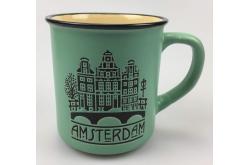 Campmug - Mok Groen Amsterdam incl. kadoverpakking