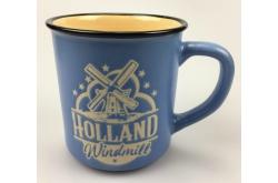 Campmug - Mok Holland Molen Blauw