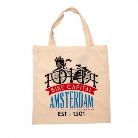 Tas katoen Amsterdam bike capital