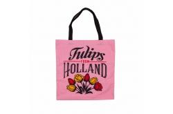 Tas katoen Holland Tulpen Roze