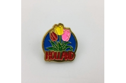 Pin 3 tulpen Holland goud