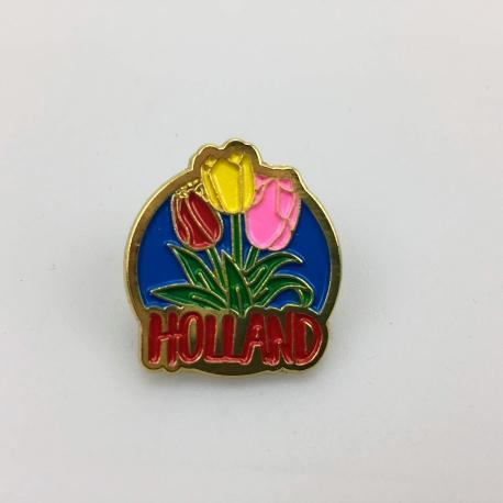 Pin molen met tulpen Holland goud