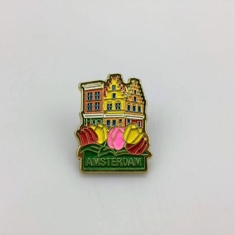 Pin huisjes Amsterdam goud