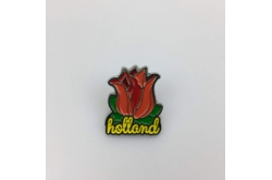 Pin Tulp Holland zilver