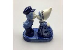 Peper en Zout Kussend Paartje Delftsblauw in showdoosje