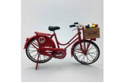 Miniatuur fiets rood 23 x 13 cm