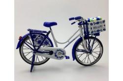 Miniatuur fiets delftsblauw 23 x 13 cm