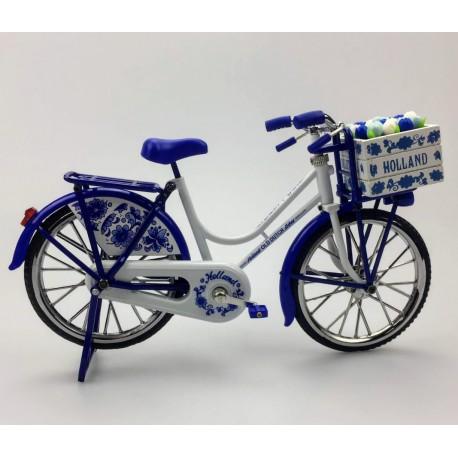 Miniatuurfiets delftsblauw 23 x 13 cm