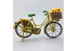 Miniatuur fiets Zonnebloemen van Gogh 23 x 13 cm
