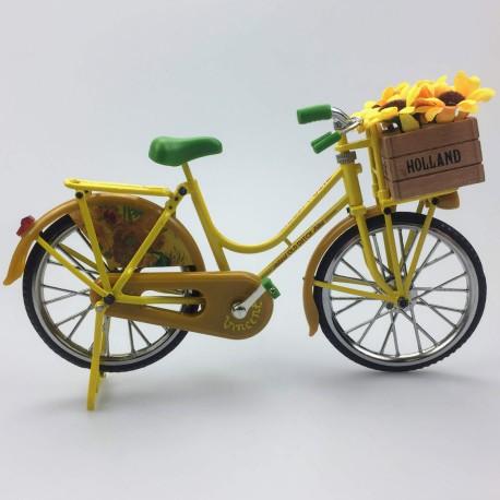 Miniatuurfiets Zonnebloemen van Gogh 23 x 13 cm