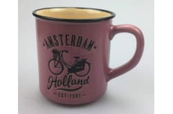 Campmug - Mok Amsterdam Holland Fiets Roze