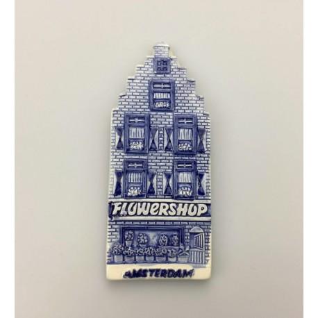 Magneet delftsblauw bloemenwinkel Amsterdam