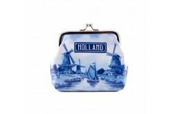 Knip portemonnee groot Holland delftsblauw