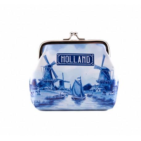 Knip portemonnee klein Holland delftsblauw