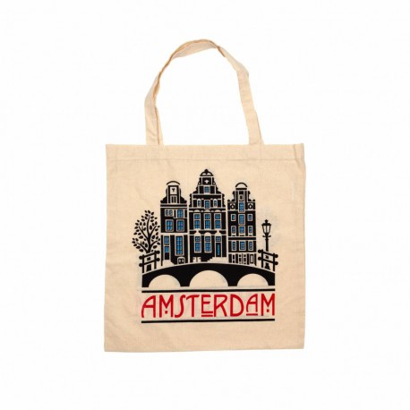 Tas katoen Amsterdam grachten
