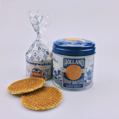 Stroopwafels in blik Holland delftsblauw