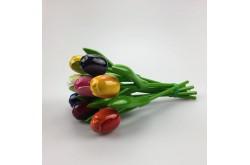 Boeket van 9 houten tulpjes 20 cm Multi Color 2