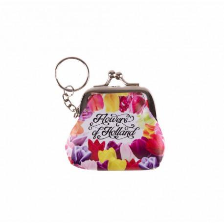 Sleutelhanger portemonnee klein Flowers of Holland