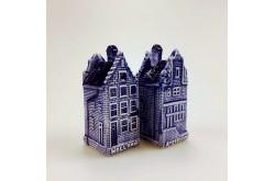 Peper & zout Grachtenhuizen Amsterdam/Holland delftsblauw