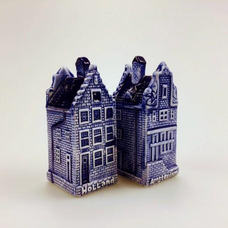 Peper & zout huizen Amsterdam/Holland delftsblauw