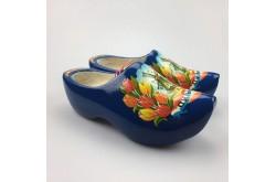 Blauwe klompen met molen en tulpen + sleutelhanger
