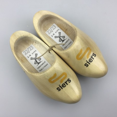 Geboortklompjes met bedrijfslogo schoenmaat 22-23