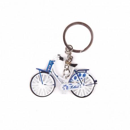 Sleutelhanger fiets delftsblauw