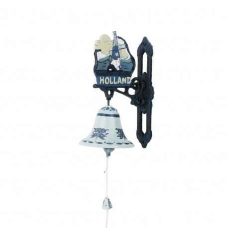 Deurbel Holland Molen Delftsblauw