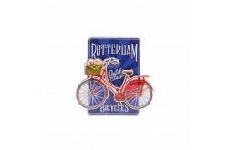 Magneet MDF fiets op blauw Rotterdam