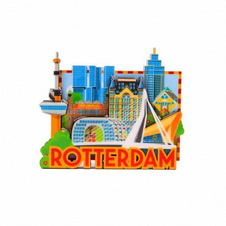 Magneet MDF Rotterdam 'Skyline'