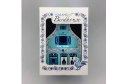 Vogelhuisje Delfts blauw + Kadoverpakking + tekst