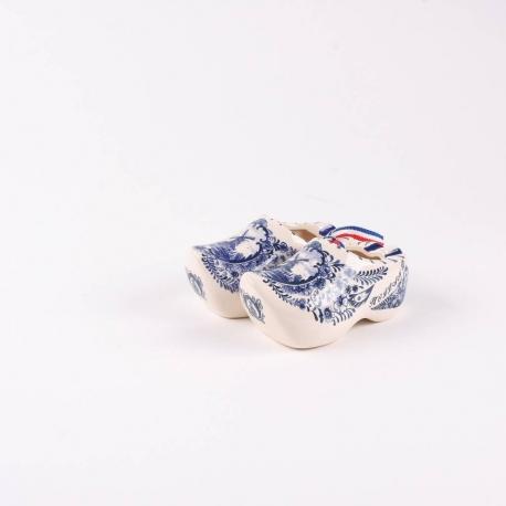 10 paar klompjes van 5 cm delfts blauw porselein