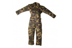 Kinderoverall camouflage met rits