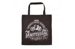 Tas katoen Amsterdam zwart classic