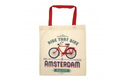 Tas katoen Amsterdam Ride That Bike