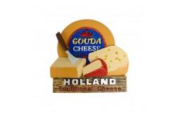 3D magneet traditonal cheese Holland - Gouda