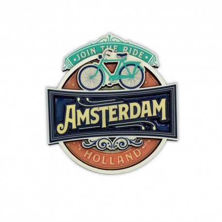 MDF magneet Vintage Amsterdam Join The Ride
