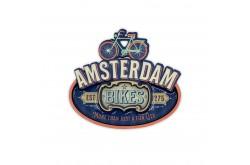 MDF magneet vintage Amsterdam bikes blue