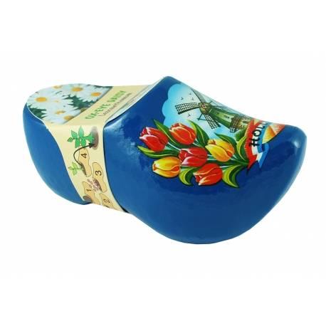 Blauw klompje met bloemzaadjes