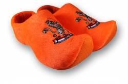 Klomppantoffels Oranje leeuw + sleutelhanger met 2 oranje klompjes