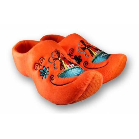 Klomppantoffels Holland Molen Oranje + gratis sleutelhanger