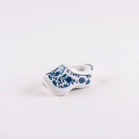 Dasklompje van 7 cm Deftsblauw + molendecor/bloemetjes