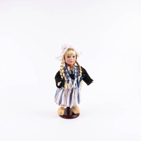 Pop in klederdracht Volendam vrouw daagse kleding 26 cm