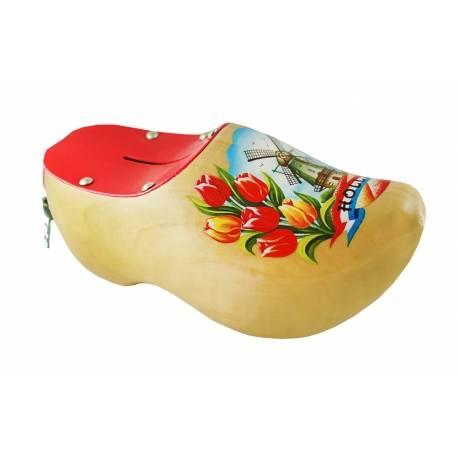 Spaarpotklompje gelakt met tulpen en molen