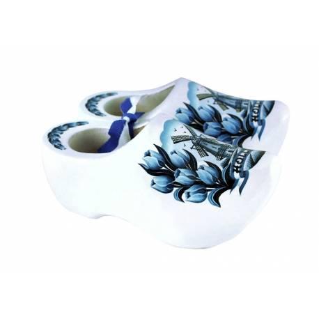 10 paar souvenirklompjes Delfts Blauw +/- 14 cm