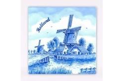 20 x Servetten Delftsblauw Molen