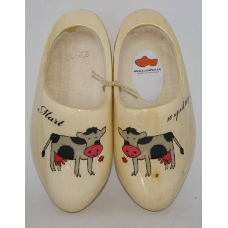 [Geboorte] klompjes met KOETJES schoenmaat 22-23