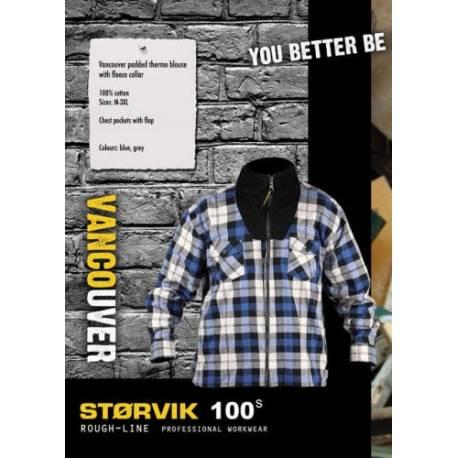 Størvik - Vancouver - Thermohemd gevoerd met col - Blauw
