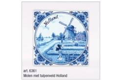 20 x Servetten Delftsblauw Tulpenveld