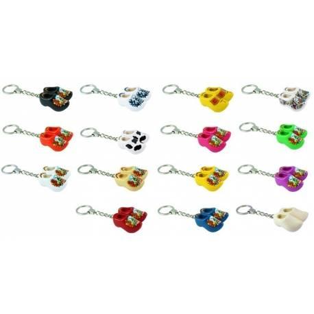 50 stuks sleutelhangers  met 2 klompjes van 4 cm